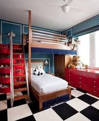 red and blue bedroom very cool bunk beds for a kid s room decorated in red white and