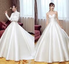 satin mermaid wedding dress jacket reviews lace waist wedding
