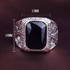 muslim wedding ring 20 27day delivery 2016 new black gem ring intered big black