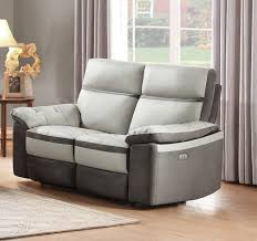 otto sofa homelegance otto two tone power reclining leather loveseat