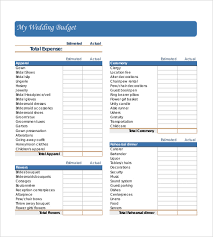 wedding budget template wedding budget template 13 free word excel pdf documents