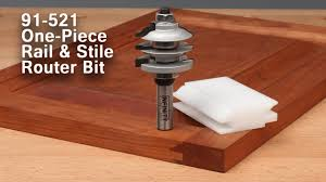 Kitchen Cabinet Router Bits by Easy Cabinet Doors With The One Piece Rail And Stile Router Bit