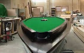 build a pool table pater mckee creates a pool table from a speed boat elite choice