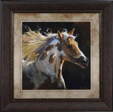 Home Interior Western Pictures by Decor Spirit Horse Framed Art For Decorate Living Room Ideas And