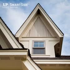 Home Decor Trims Lp Smartside Trim Soffit And Panel Siding Form A Dynamic Peak On