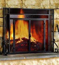 Free Standing Fireplace Screens by Fireplace Glass Doors Ebay