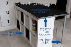 diy craft table ikea ikea adjustable table legs tabletop picked dma homes 2349