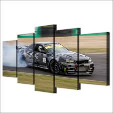 online shop modular pictures cheap prints 5 panel sport cool car