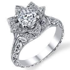 lotus flower engagement ring engraved 8 petal 58 ct diamond lotus flower ring bbr588 2