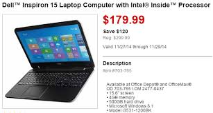 black friday deals on computers office depot black friday deal dell inspiron 15 laptop computer