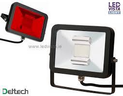 red led flood light led floodlight 10w red ip65 black slim body deltech led floodlight
