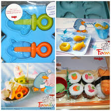 cuisine haba silicone popsicle cube trays sushi set from haba review