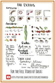 thanksgiving themed monthly headers for your bullet journals