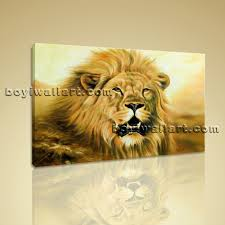 canvas painting for home decoration giclee print of lion abstract painting on canvas living room