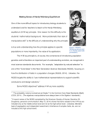 making sense of hardy weinberg equilibrium pdf download available