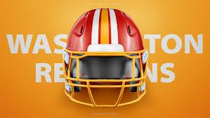 washington redskins riddell 360 football helmet free psd template