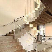 online shop 6 25 pcs staircase art deco led cubic glass pendant