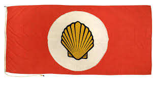 Flag With Red Circle House Flag Shell Tankers Ltd National Maritime Museum