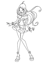 flora coloring pages winx club coloring pages flora coloringstar
