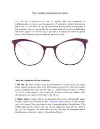 tips on reading your eyeglass prescription by charlesriley84 issuu