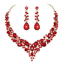 red crystal necklace set images Crystal necklace and earrings jewelry set flygirls boutique jpg