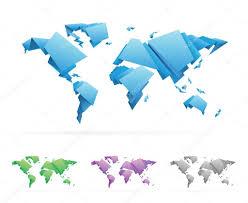 Vector World Map Origami Style Vector World Map U2014 Stock Vector Ildogesto 23629361