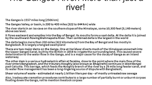 the ganges river more than just a river the ganges is 1557 miles