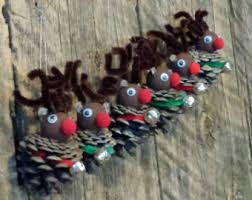 pine cone ornaments etsy