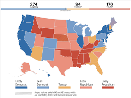 Show Me A World Map Nbc U0027s Final Battleground Map Shows Clinton With A Significant Lead