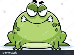 cartoon illustration frog looking angry stock vector 223006489
