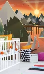 22 best baby room wall murals images on pinterest babies rooms sunset lake wall mural