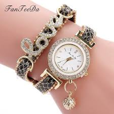 women bracelet watches images Fanteeda top brand women bracelet watches ladies love leather jpg