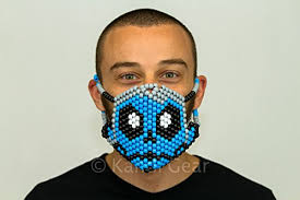 Kandi Mask Zomboy Edc Surgical Kandi Mask By Kandi Gear Rave Party Clothes