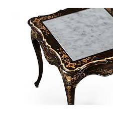 paper mache black side table swanky interiors