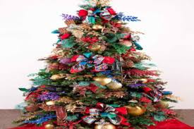 spree room decor flawless christmas tree decorations with ribbons