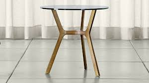 brass and glass end tables elke glass end table with brass base reviews crate and barrel