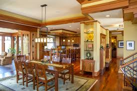 flooring fresh craftsman dining room ideas with open floor plan
