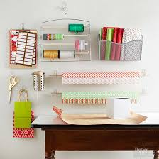 wrapping supplies easy ways to store gift wrapping supplies from better homes and