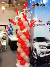 sriracha car walk together with you toyota sriracha branch balloon decoration