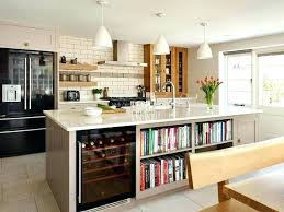 kitchen island with refrigerator small kitchen island with wine cooler fridge in transitional bespoke