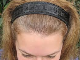 leather headband leather headband tooled black celtic flowers