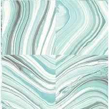 peel and stick wallpaper tiles shop nuwallpaper 30 8 sq ft turquoise vinyl tile peel and stick