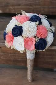 wedding flowers keepsake navy coral bouquet wedding wedding flowers wedding bouquet