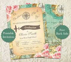 oh the places you ll go graduation party oh the places you ll go girl graduation party invitation