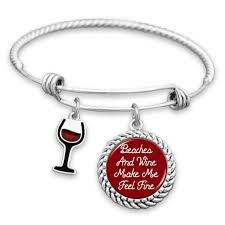 fine charm bracelet images Beaches and wine make me feel fine charm bracelet jpg