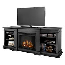 Tv Stand With Fireplace Real Flame Fresno Electric Fireplace Black Hayneedle