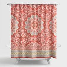 Silver Sparkle Shower Curtain Andana Medallion Shower Curtain World Market