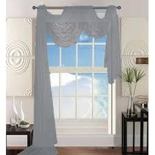 gray and silver window scarf curtains u0026 drapes you u0027ll love wayfair