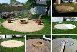 patio making a fire pit patio outdoor patio ideas with firepit
