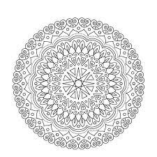coloring book mandala circle lace ornament ornamental